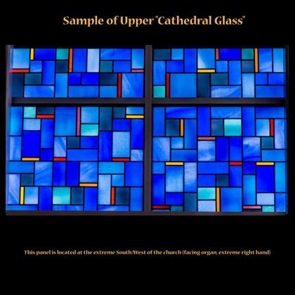 "Sample of Upper ""Cathedral Glass"""